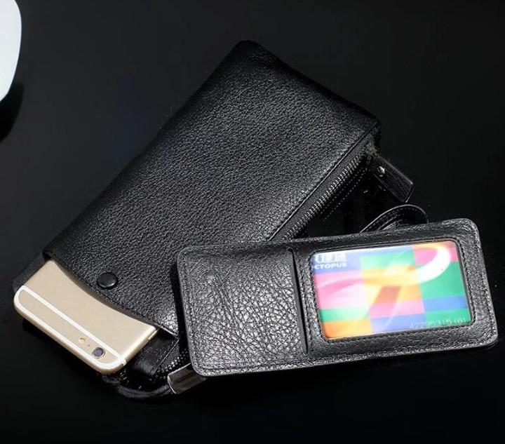 Pochette de téléphone en cuir de vachette véritable pour LG G8 V50 ThinQ 5G, Doogee N10 Y8C Y7 Y8 Plus BL7000, Leagoo M13