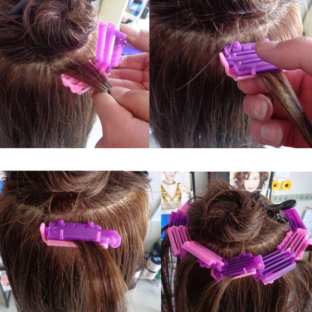 45pcs Styling Home Use Hair Rollers Hair Clip Wave Perm Rod Corn