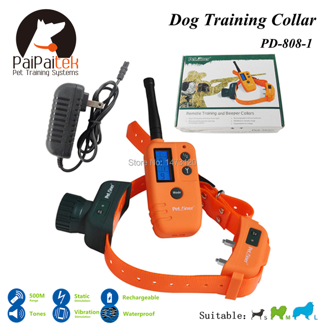 Free Shipping Rechargeable and Waterproof Electric Dog Training Collar 500M Range Remote  Control Shock+Electric Pet Collar