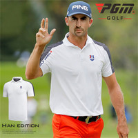 PGM Golf Trainning T Shirts Mens Short sleeved Shirt Competition Suit Summer Golf T shirt Breathable T shirt Sportswear