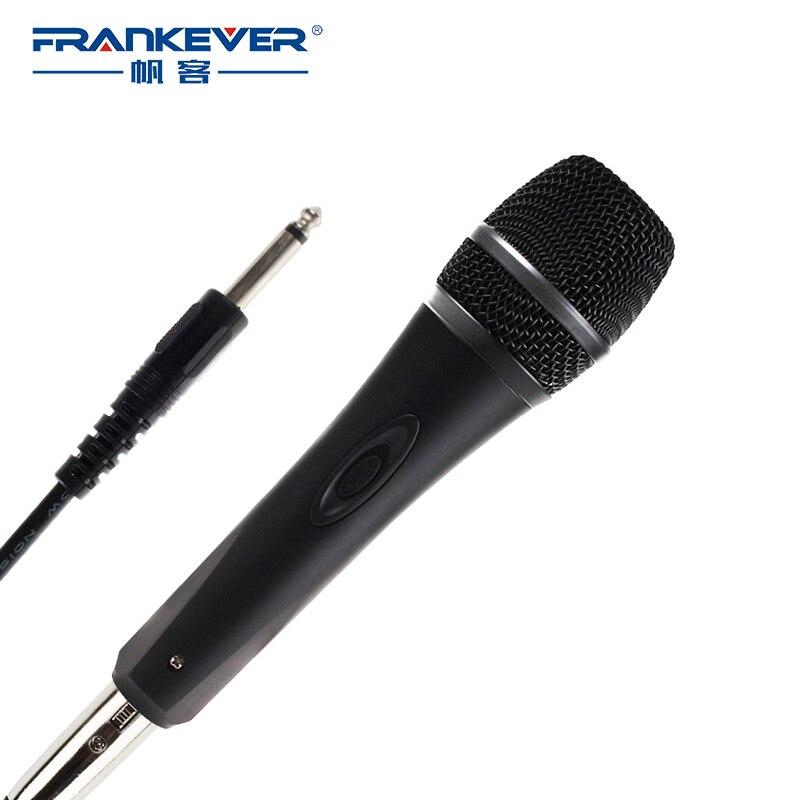 buy frankever dynamic karaoke wired microphone player condenser for. Black Bedroom Furniture Sets. Home Design Ideas