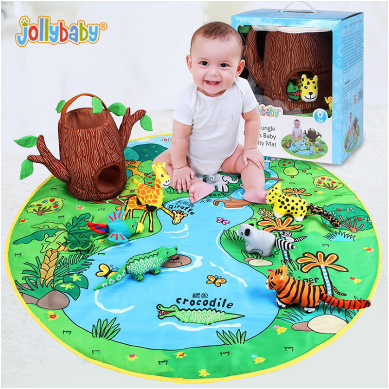Jollybaby Baby Toy Baby 3D Play Mat 0-1-3 Year Game Tapete Infantil Educational Crawling Mat Cartoon Blanket