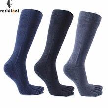 Veridical 5 زوج/وحدة 2010 رائجة البيع خمسة أصابع الجوارب طويلة بتمشيط القطن نوعية جيدة جوارب ضغط 5 إصبع الجوارب Calcetine
