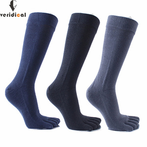 Image 1 - Veridical 5 Pairs/Lot 2010 Hot Sale Five Fingers Socks Long Combed Cotton Good Quality Compression Sock 5 Finger Socks Calcetine