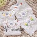 Бесплатная доставка Весной и летом девочка основной рубашка кружева украшения знатных кардиган с отложным воротником футболка принцесса