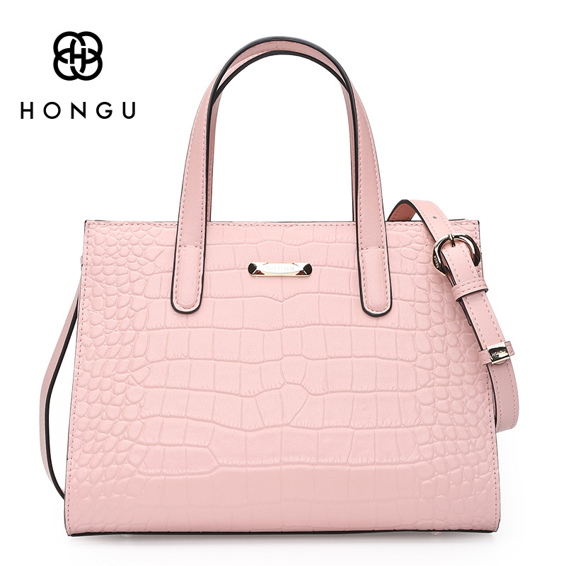 HONGU High Grade Leather Handbags Crocodile Pattern Large Ladies Hand Bags Luxury Purse With Shoulder Strap sac a main femme hongu high grade leather handbags crocodile pattern large ladies hand bags luxury purse with shoulder strap sac a main femme