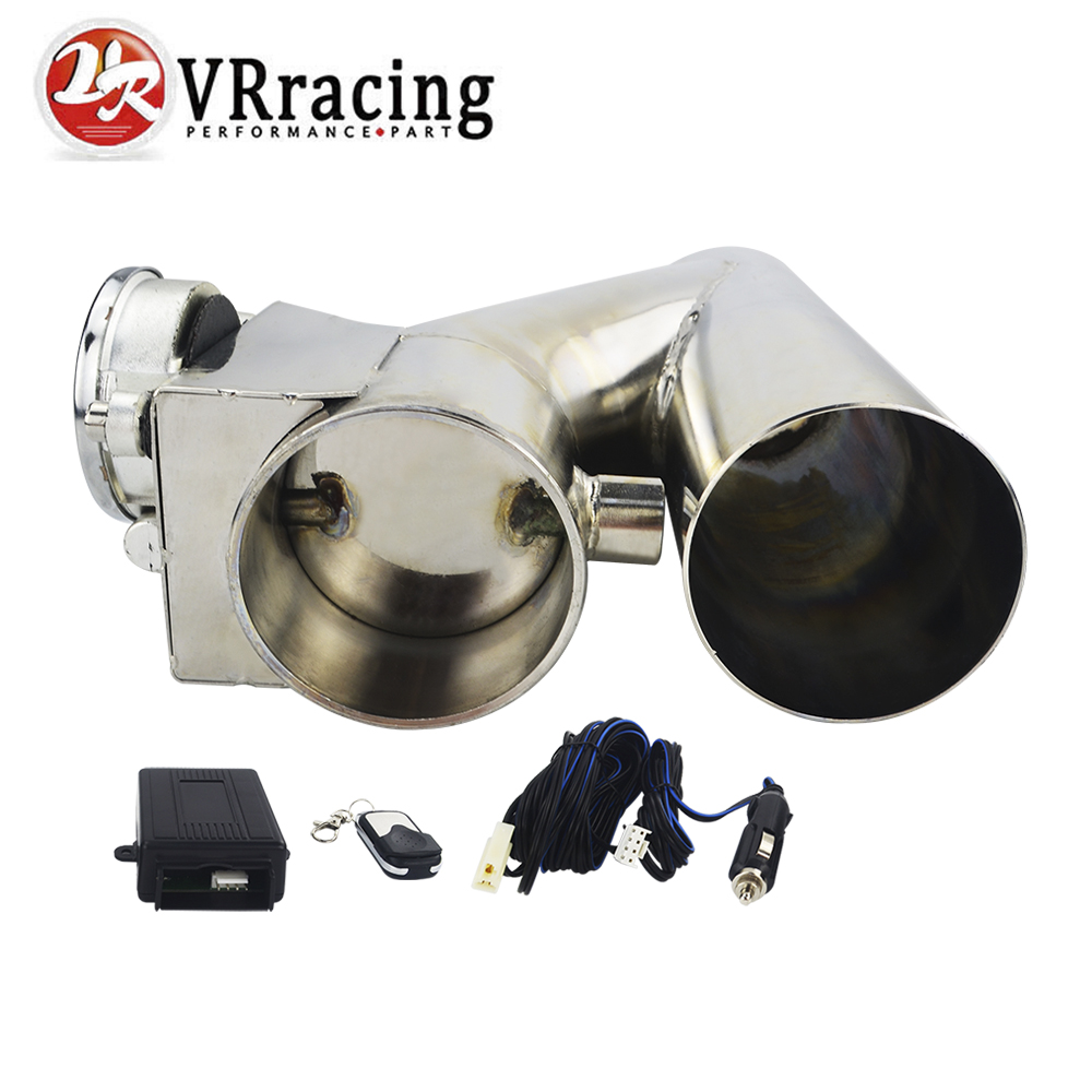 VR RACING - Universal Stainless Steel  2.5 / 3 Dump Valve Electric Exhaust Cutout Cut Out with Wireless Remote VR-CT93VR RACING - Universal Stainless Steel  2.5 / 3 Dump Valve Electric Exhaust Cutout Cut Out with Wireless Remote VR-CT93