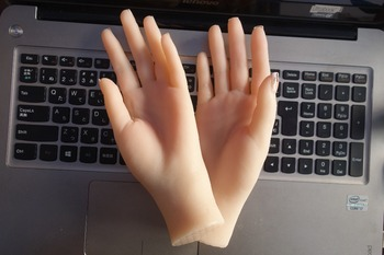 Free Shipping!! High Quality Female Silicone Mannequin Hand Lifelike Mannequin Hand Model Hot Sale