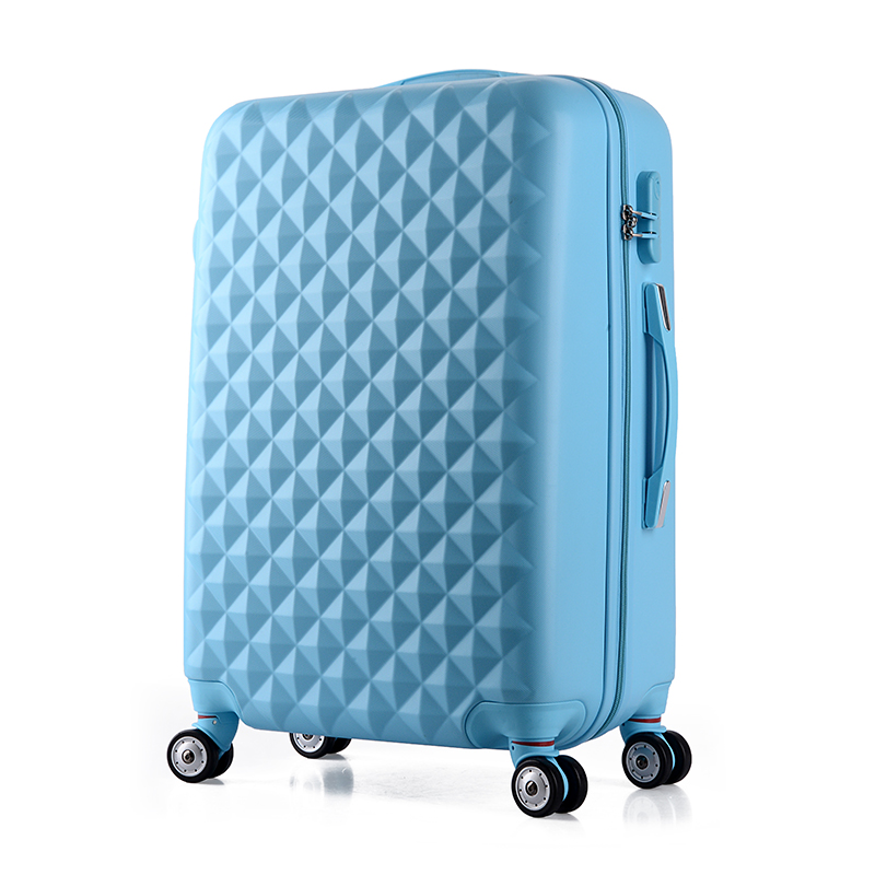 Wholesale!High quality 22inch girl lovely abs+pc trolley luggage bag on universal wheels,female candy color travel luggage case