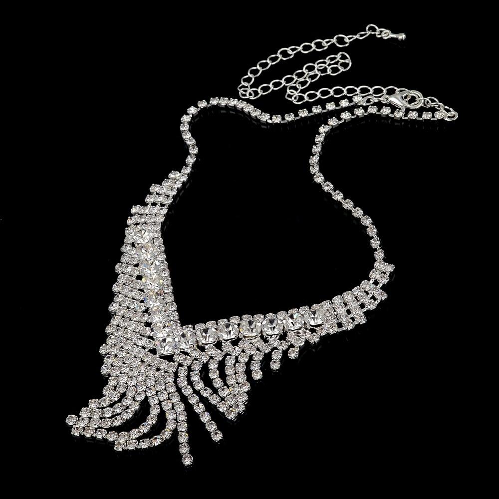 TOUCHEART Vjenčanje afrički perle nakit, kristalno srebrna boja, - Modni nakit - Foto 6
