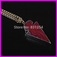 1pc Lot New Natural Red Agate Arrow Shape Charm Pendant 22K Gold Plated Edge Druzy Pendant