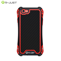 Waterproof Shockproof Carbon Fiber Gorilla Tempered Glass Aluminum Metal Armor Case Cover For Iphone 5 5S