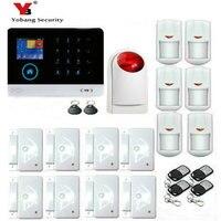YoBang безопасности Беспроводной Wi Fi GSM охранной сигнализации Системы комплект дым газа Сенсор Походные горелки и плитки сигнал удаленного мо