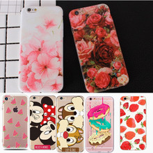 For iPhone 7 Case iPhone 6 Case Silicone Flower Cute Cartoon TPU Soft Cover Case For iPhone XS X 6S 6 7 8 Plus iPhone 5 5S SE