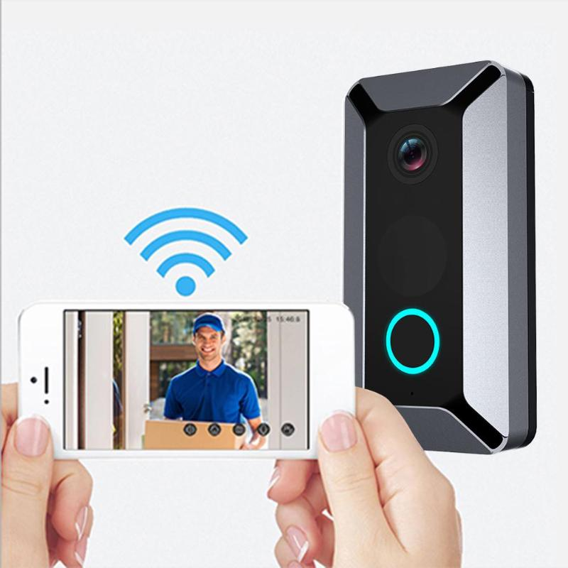 20P Smart Wireless Doorbell 140° Wide Angle Lens 7 Video Intercom Night Vision Security Ring Preview Recording