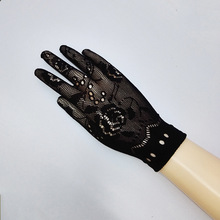 2016 High Quality Neon Short Fishnet Gloves Fish Net Fancy Dress Party Dance Club Nylon+Spandex Mesh Short Gloves 616