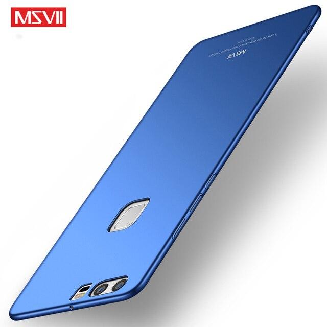 MSVII Coque Đối Với Huawei Ascend P9 Trường Hợp P10 Cộng Với Lite Cứng Frosted PC Cover Quay Lại 360 Full Điện Thoại Nhà Ở Cho Huawei P9 trường hợp