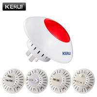 Wireless Flashing Siren Alarm Flash Horn Red Light Strobe Siren 433 MHz Suit For Most Alarm