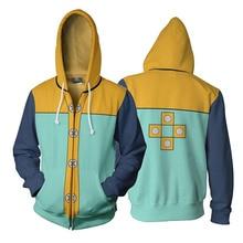 Anime The Seven Deadly Sins King Cosplay Hooded 3D Printed Zip Up Jacket Sweatshirt Streatwear Long Sleeve Warm Coat цена