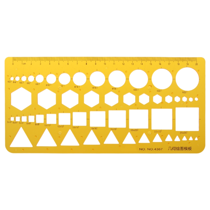 K Resin Circles Squares Triangle Geometric Template Ruler Stencil Measuring Tool