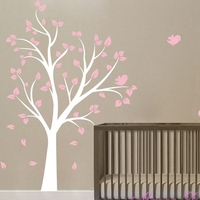 High quality 130 x180 cm Large Tree and birds Vinyl wall decal stickers for Baby girl Nursery room ,kids wall art decoration