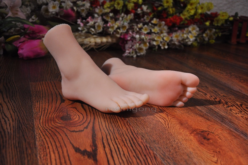 Female realistic mannequin foot! sexy women sexy feet in silicon energy productive professional model,silicone foot model