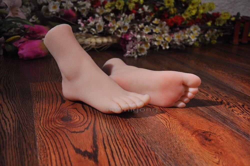 Femelle réaliste mannequin pied! sexy femmes sexy pieds dans le silicium énergie productive professionnel modèle, modèle de pied de silicone