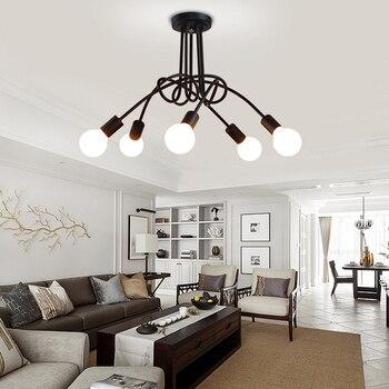 Moderno, pintado de Negro art deco colgante luces de hierro minimalista pintado luz E27 LED 220 V lámpara para dormitorio cocina restaurante bar