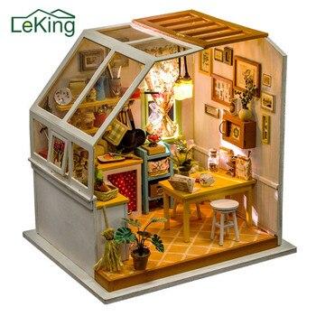 Muebles Madera Micro Juguetes Decoración Regalos Para Paisaje Muñecas Niños Navidad 3d Casa Cumpleaños Jardín Diy Del De 1J3lKTFc