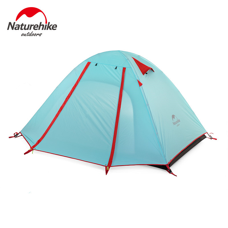 POINT BREAK High-quality Double Layer 3 Person Outdoor Camping Hike Travel Tent Portable Waterproof Three-season Tent flytop high quality 3 person double layer rainproof windproof outdoor camping tent with snow skirt 210 50 180 50 115 cm