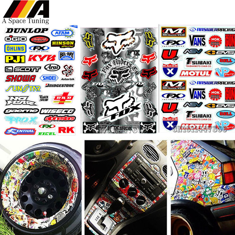 Waterproof PVC DIY Motorcycle Moto Bike Graffiti Car Sticker JDM Laptop Luggage Skateboard Snowboard Guitar Helmet Decal Vinyl(China)