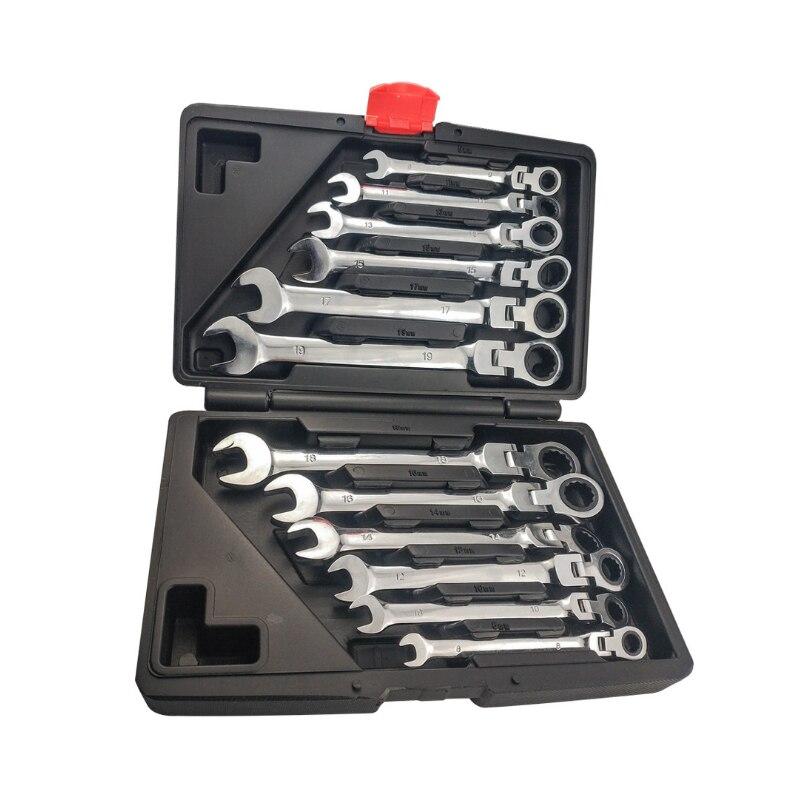 12 pièces clé à cliquet ensemble d'outils clé à cliquet clé à cliquet Garage tête fixe outils accessoire