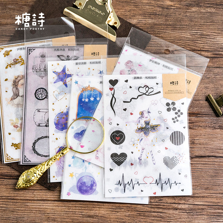 3 Sheets/lot Cute Paper Journal Decorative Kawaii Gold Stickers Scrapbooking School Supplies Planner Accessories3 Sheets/lot Cute Paper Journal Decorative Kawaii Gold Stickers Scrapbooking School Supplies Planner Accessories