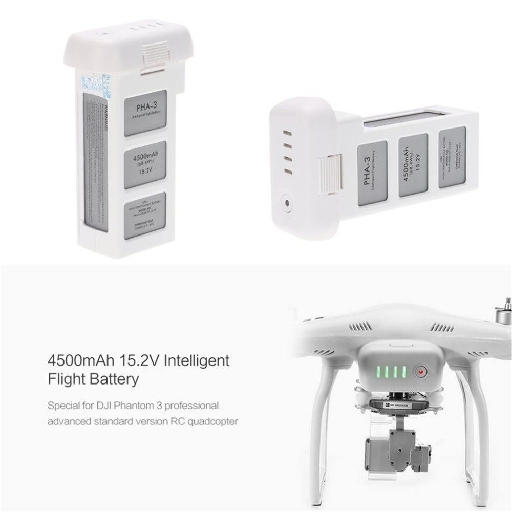 Batterie Drone pour DJI phantom 3 professionnel/3/Standard/avancé 15.2V 4500mAh LiPo 4S batterie intelligente jusqu'à 23 minutes - 2