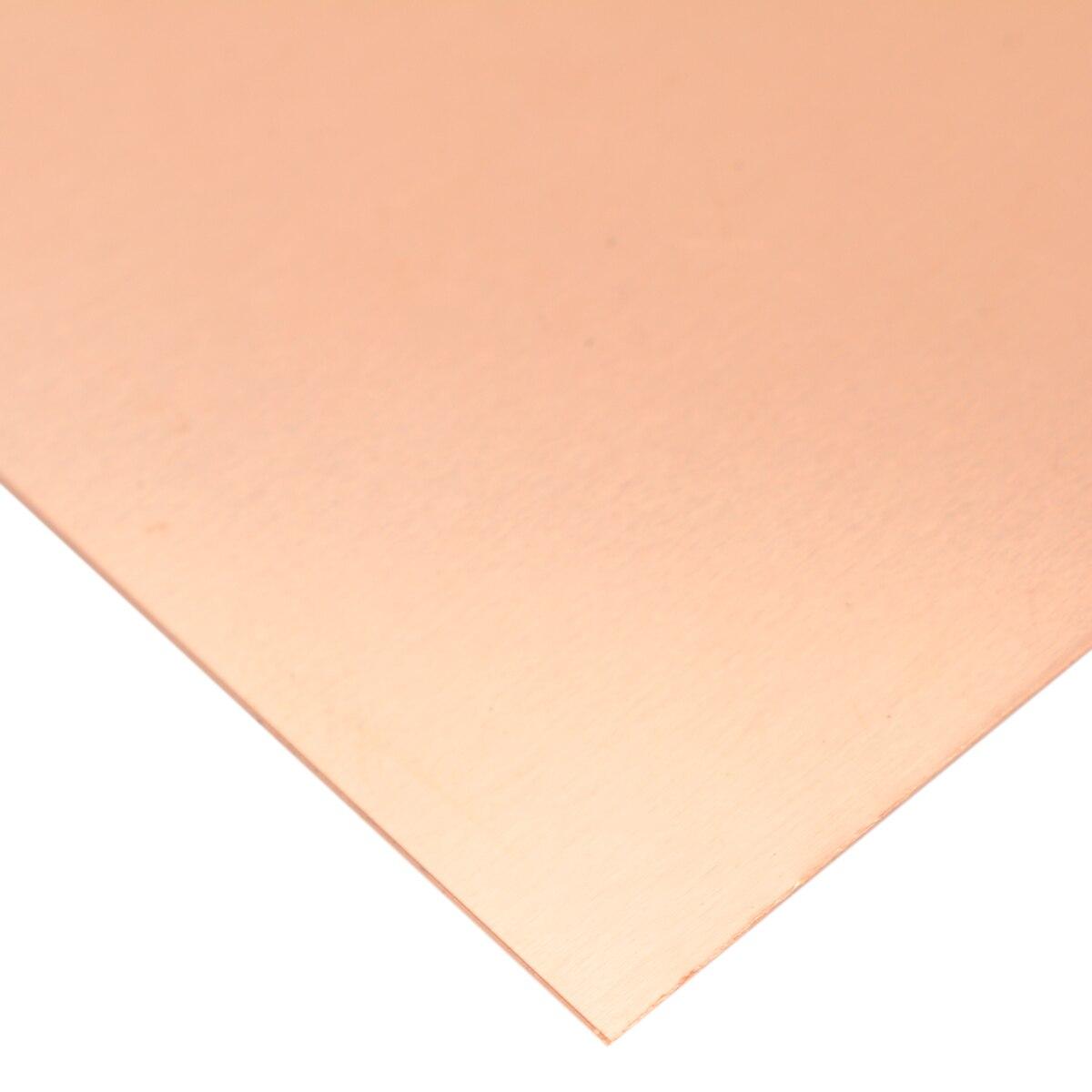 1pc 99.9% Pure High Purity Copper Cu Metal Sheet Foil Copper Plate 100x100mm 0.2mm Thickness