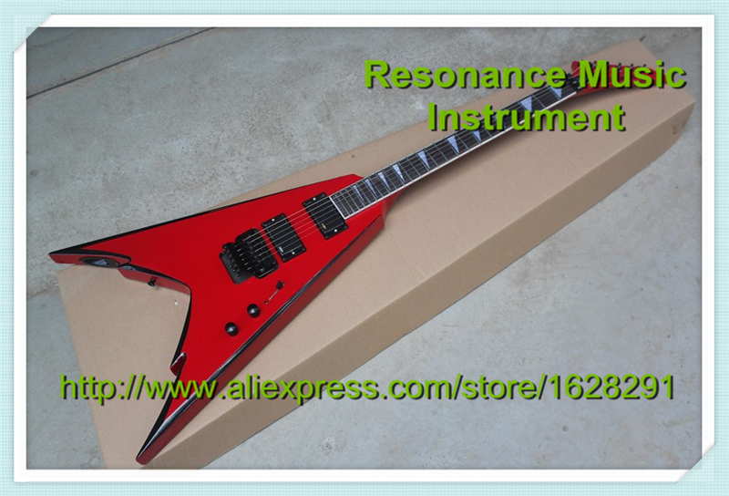 New Arrival High Quality Red Jackson Electric Guitar China with Floyd Rose Tremolo Lefty Available hot selling china quilted finish musicman ax 40 electric guitar with chrome floyd rose tremolo for sale