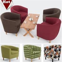 Wholesale Wood Living Room Sofa Leisure Cloth Sofa Red Green Brown Sofa Set Living Room Furniture