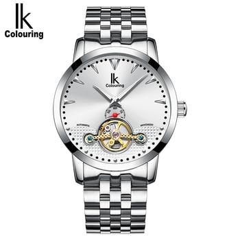 IK Colouring  Men Watches Luxury Waterproof Luminous Business Casual Automatic Mechanical Wrist Watch