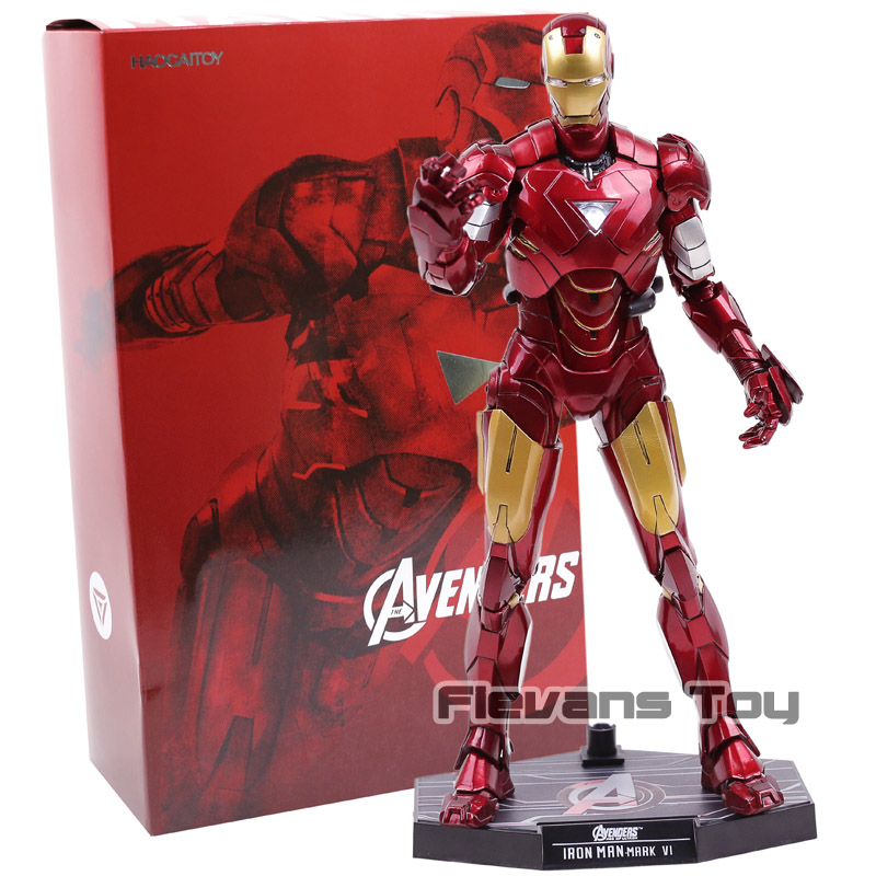 Hot Toys Marvel Avengers Iron Man Mark VI MK 6 PVC Action Figure Collectible Model Toy with LED Light цена