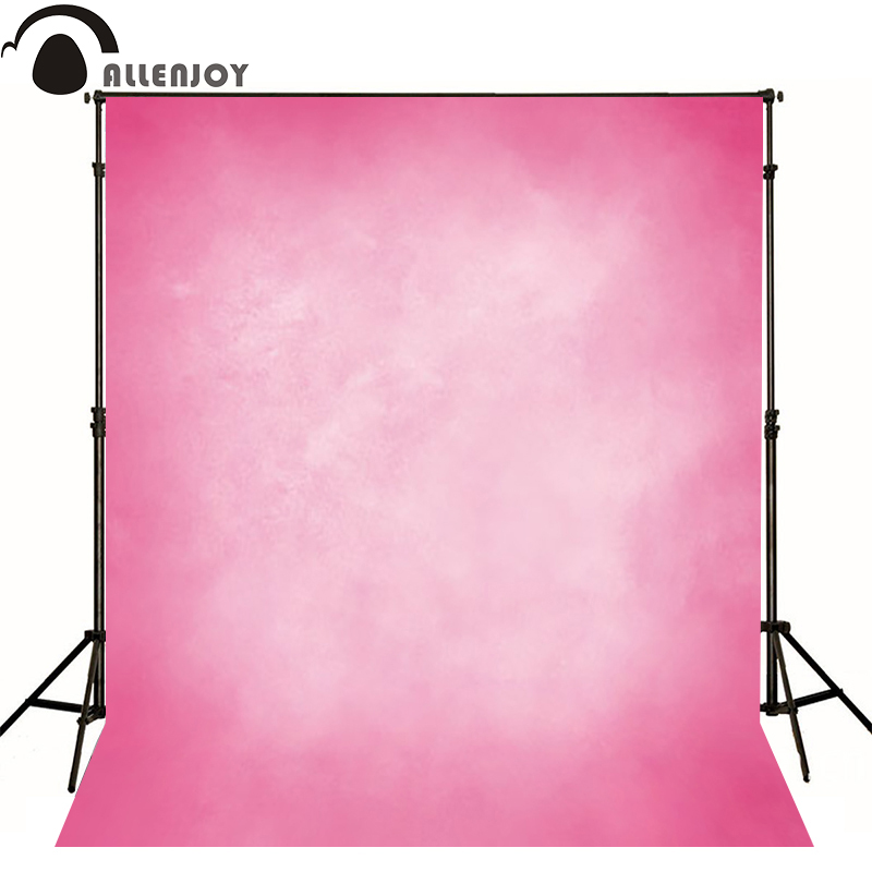 Allenjoy Thin Vinyl cloth photography Backdrop Pink Background For Studio Photo Pure Color photocall Wedding backdrop MH-028 поверхностный насос karcher bp 3 home and garden 1 645 353