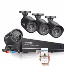 SANNCE 4CH AHD 720P HD DVR HDMI Outdoor CCTV Security Camera System Home Surveillance Video Recorder Kits