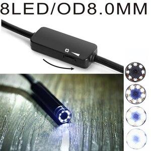 Image 4 - WIFI endoskop kamera Mini IP67 wodoodporny miękki kabel kamera inspekcyjna 8mm endoskop USB boroskop IOS endoskop dla iPhone