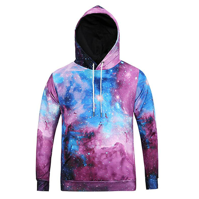 91811508a89f Online Shop Colorful Galaxy Printed Hoodies Fashion Men s Clothing Hooded  Pullover Long Sleeve Sweat Homme Jumper Cool Sportswear Sweatshirt
