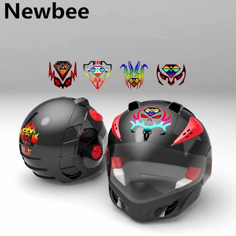 Newbee 12cm * 12cm odblaskowy samochód motocykl motocykl naklejki uniwersalny 3D osłona zbiornika paliwa kask Laptop dekoracyjna naklejka