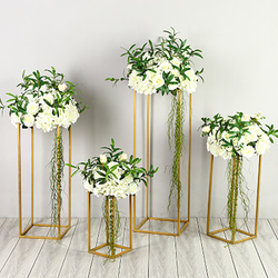 Marco de Metal para pasillo nupcial soporte de flores estantes con diseño decorativo geométrico Props fiesta Fondo decoración de escenario