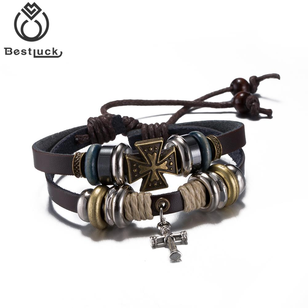Luxury Elegant Motor Cycle Biker Handmade Leather Style Bracelets Cool Gift  For Friend Fashion Jewelry(