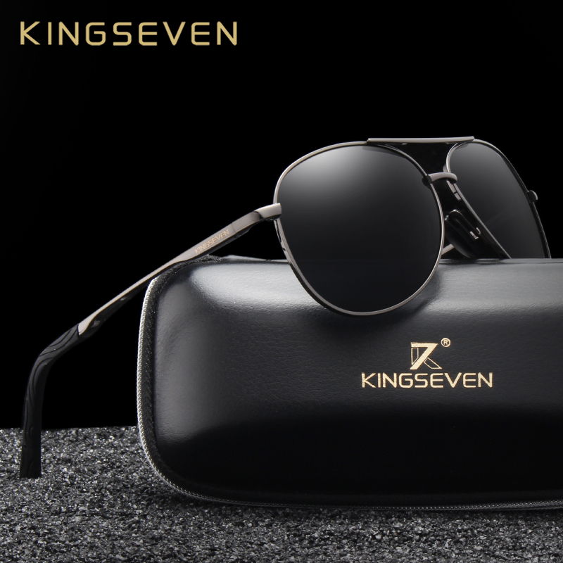KINGSEVEN Brand New Sunglasses Men Glasses Driving Reflective Coating Lens Eyewear Accessories Sun Glasses Oculos N7013