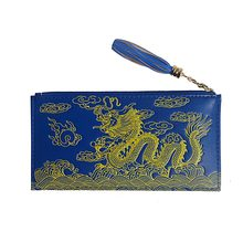 Feng Shui Dragon Wallet (Blue) W Fengshusale Red String Bracelet W1679(China)