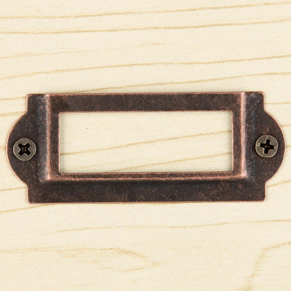 Kast Metalen Frame.5 Stks Brons Tone Metalen Frame Lade Box Case Kast Card Label