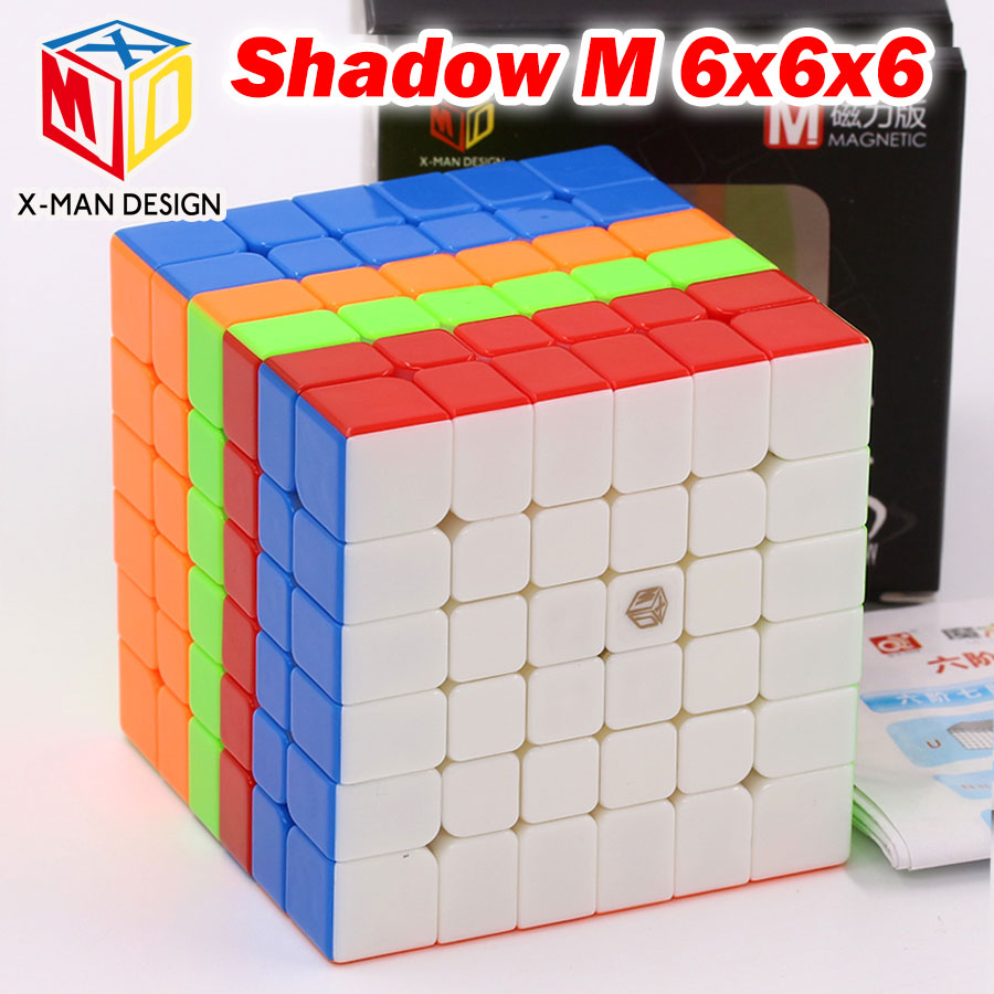 Puzzle Magic Cube QiYi Xman 6x6x6 6*6*6 Shadow M Magnetic cube professional educational puzzle twist wisdom toys logic game Z